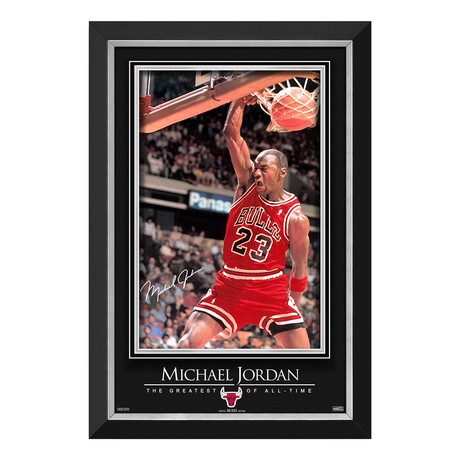 Jordan Sports Illustrated Cover // Limited Edition Poster Display // Facsimile Signature