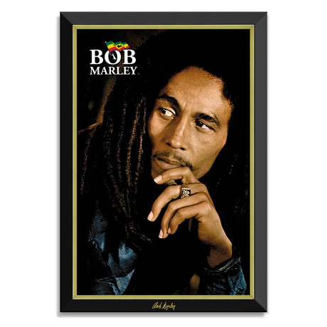 """Legend"" Bob Marley // Framed Canvas Print // Facsimile Signature"