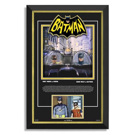 Adam West + Burt Ward // Limited Edition Autographed Display // Batman The Movie