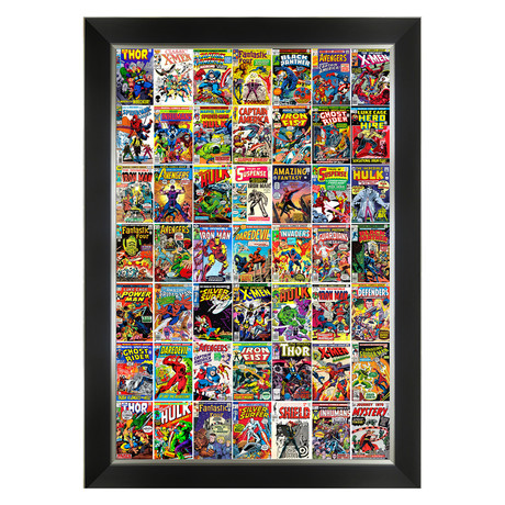 Marvel Classic Comic Collection // Framed Canvas Art Print