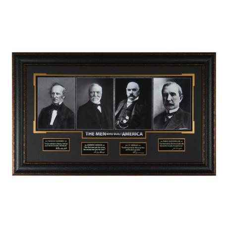 The Men Who Built America // Facsimile Signature Display