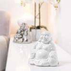 Laughing Buddha Ceramic Decor Statue // White