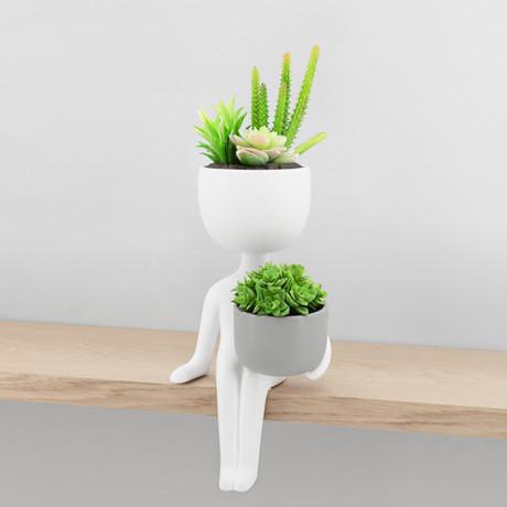 Plant Pal // Shelf Sitter // Ceramic Planter