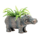 Happy Hippo // Indoor + Outdoor Garden Drop Pot Planter