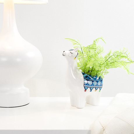 Parading Llama // Drop Pot Planter