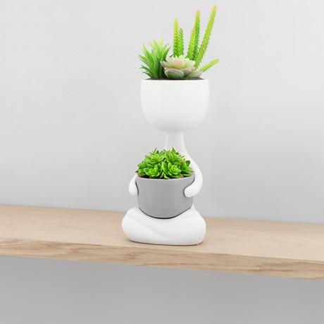 Plant Pal // Zen Pose // Ceramic Planter