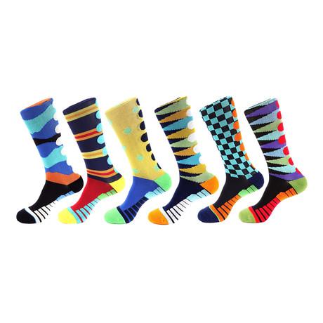 Stride Athletic Socks IV // Multicolor // Pack of 6