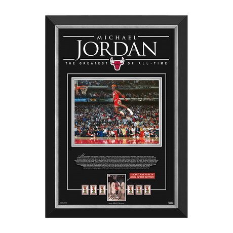 Michael Jordan // Limited Edition Championship Tribute // Facsimile Signature