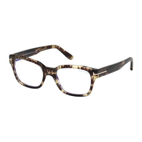 Tom Ford // Men's FT5535 Blue Light Blocking Glasses // Tortoise