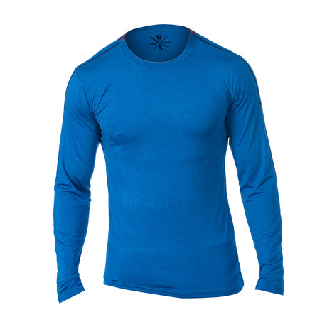 Everyday Long-Sleeve Fitness Tech T // Blue (S)