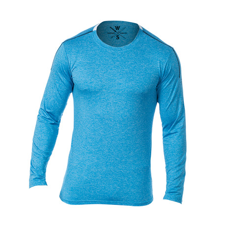 Everyday Long-Sleeve Fitness Tech T // Light Blue (S)