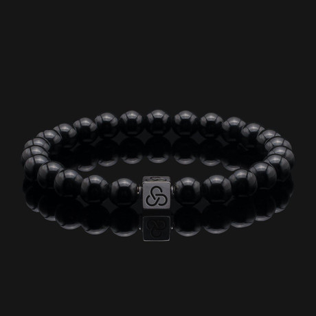 Essential Onyx Bracelet // Black Gold + Black (X-Small)