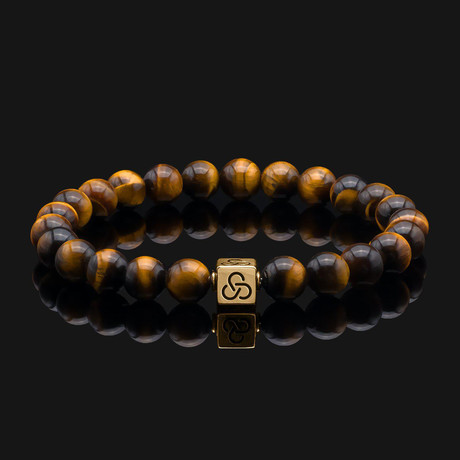 Essential Tiger Eye Bracelet // Gold + Yellow + Brown (X-Small)