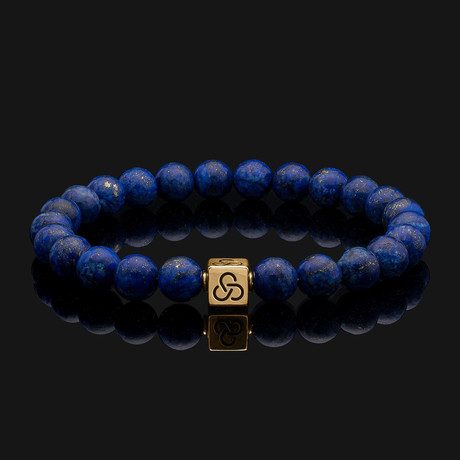 Essential Lapis Lazuli Bracelet // Gold + Blue (X-Small)