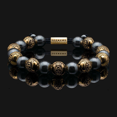 Prestige Hematite Bracelet // Gold + Metallic Gray (X-Small)