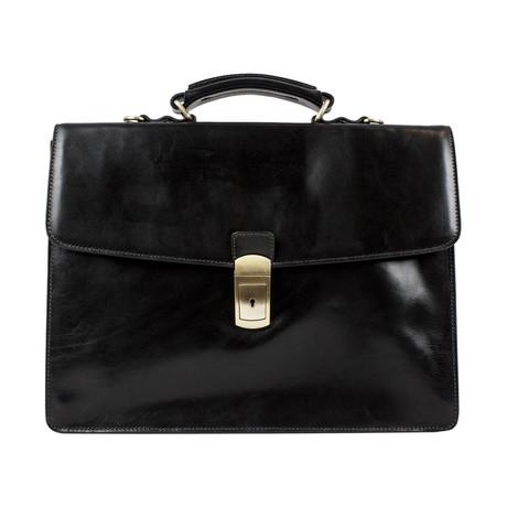 Arthur // Leather Briefcase // Black
