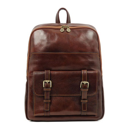 The Divine Comedy // Leather Backpack // Dark Brown