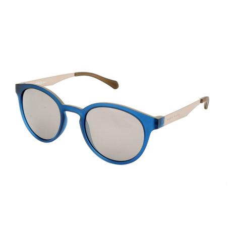 Unisex 0869 Sunglasses // Dark Blue + Matte Ruthenium