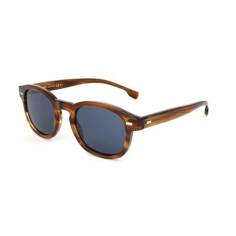 Men's 0999 Sunglasses // Striped Brown