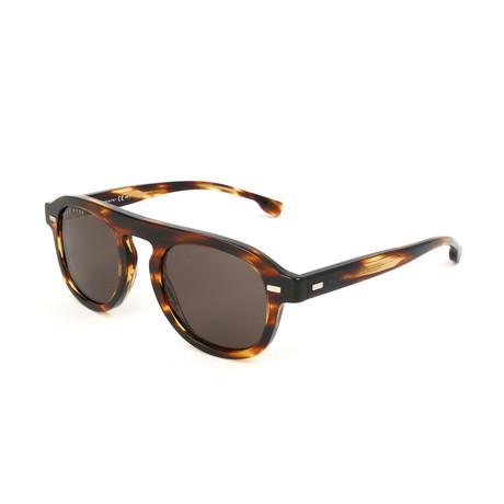 Men's 1000 Sunglasses // Striped Brown