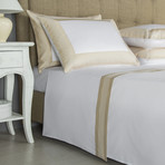 Porto Bedset // White + Sandstone (Queen)