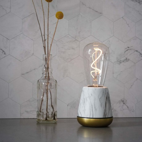ONE Table Light // White Marble
