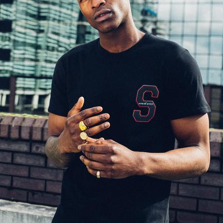 Varsity T-Shirt // Black (S)