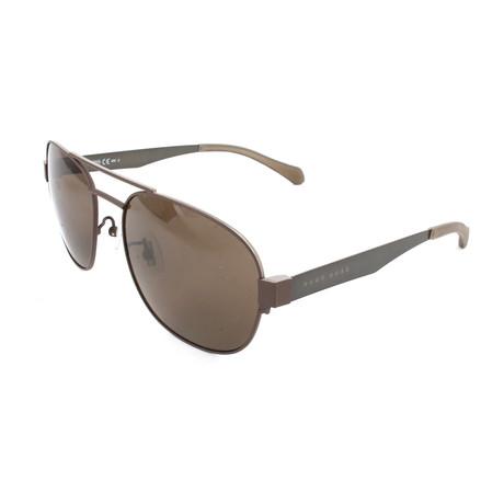 Men's 0869 Sunglasses // Matte Brown + Dark Ruthenium