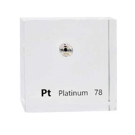 Lucite Cube // Platinum