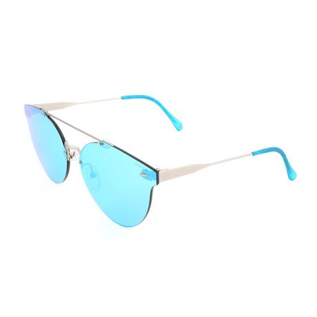 Men's Giaguaro Sunglasses // Blue + Silver