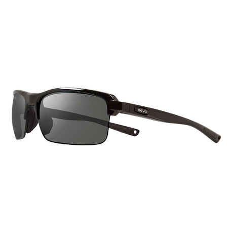 Crux N Polarized Sunglasses // Black Frame + Graphite Lens