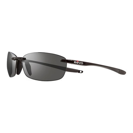 Descend Polarized Sunglasses // Black Frame + Graphite Lens