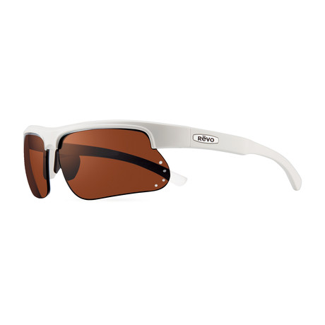 Cusp S Polarized Sunglasses // White Frame + Golf Lens