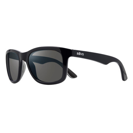 Huddie Polarized Sunglasses // Shiny Black Frame + Graphite Lens