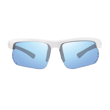 Cusp S Polarized Sunglasses // White Frame + Blue Water Lens