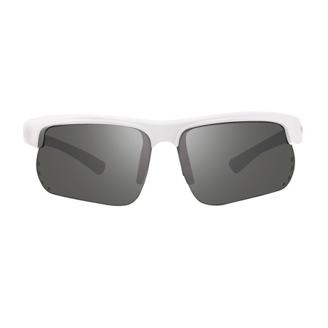 Cusp S Polarized Sunglasses // White Frame + Graphite Lens