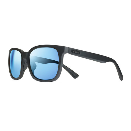 Slater S Polarized Sunglasses // Matte Black Frame + Blue Water Lens