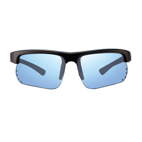 Cusp S Polarized Sunglasses // Matte Black Frame + Blue Water Lens