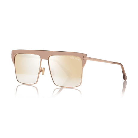 Unisex 18K Gold Plated Limited Edition West Sunglasses // Rose Gold