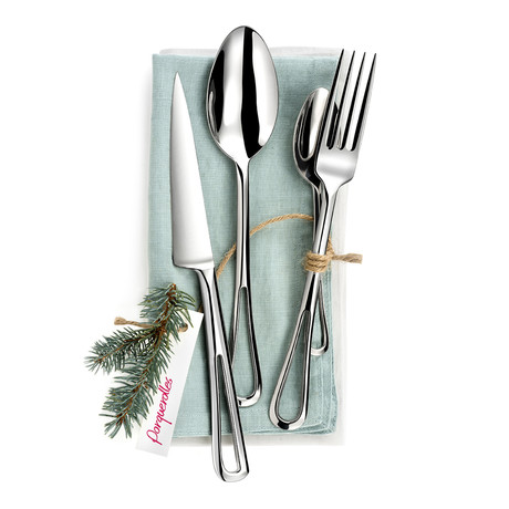 Porquerolles // 16-Piece Precision-Forged Flatware Set
