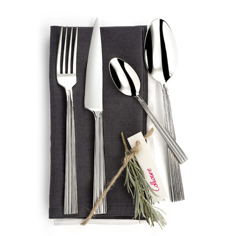Collioure 16-Piece Precision-Forged Flatware Set