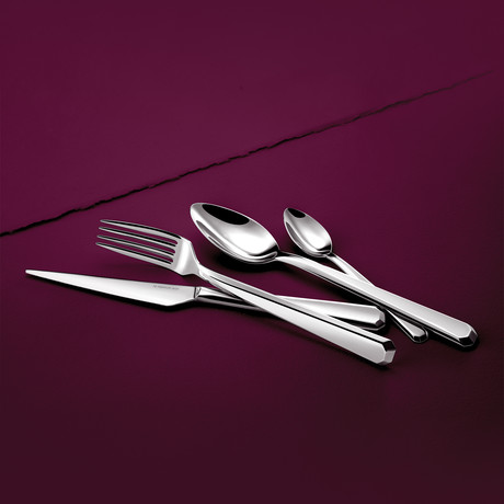 Noirmoutier 16-Piece Precision-Forged Flatware Set