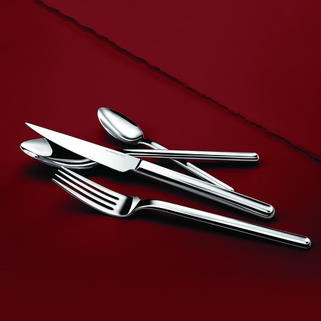 Guérande // 16-Piece Precision-Forged Flatware Set (Mirror Finish)