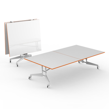 Nomad Sport Conference Table 9 // Dry Erase (White + Tangerine)