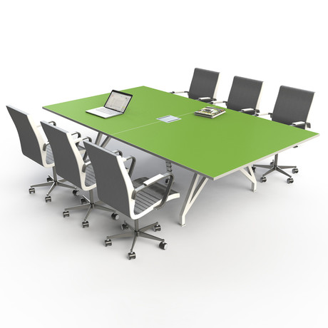 EYHOV Sport Conference Table 9 + Power Module (Scale Green + White)