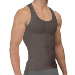 Men's Compression + Core Support Tank Top // Gray (Small)