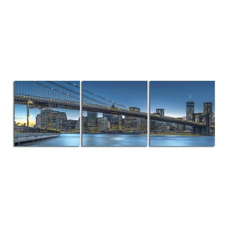 """Brooklyn Bridge from Dumbo (20""""H x 60""""W x 1""""D)"""