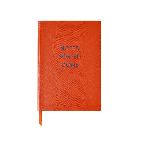 Noted Sorted Done // Orange (Small Book)