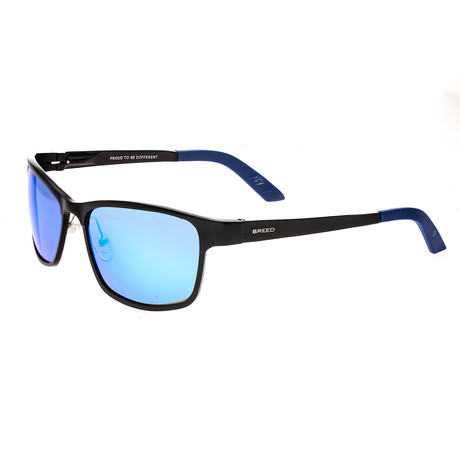 Hydra Polarized Sunglasses // Black + Blue (Blue Frame + Purple Lens)