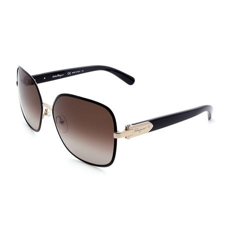Womens SF150S-733 Rectangle Sunglasses // Black Gold + Gray Gradient